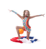 Image of young artistic gymnast posing in studio Stock Photography