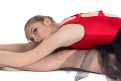 Image of young ballerina on training Royalty Free Stock Images