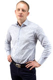 Image of young blond man Stock Images