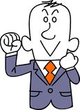 A young businessman to be enthusiastic vector illustration