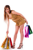 Image of young girl with her shopping bag in hand Royalty Free Stock Photo