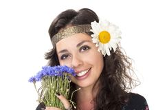 Image of a young hippie girl Stock Photography