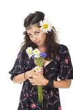 Image of a young hippie girl Royalty Free Stock Image