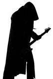 Image of young man's silhouette playing the guitar Stock Photo