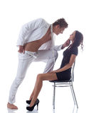 Image of young playful couple posing in studio Stock Image