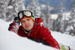 Image of young snowboarder Stock Image