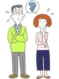 The image of a Troubled couple royalty free illustration