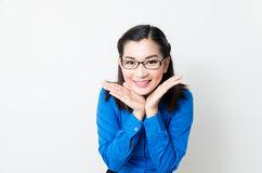 Image of a young woman with a lovely look and charming smile Stock Image