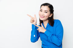 Image of a young woman with a lovely look and charming smile Stock Photos