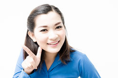 Image of a young woman with a lovely look and charming smile Royalty Free Stock Photo