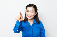Image of a young woman with a lovely look and charming smile Stock Photography
