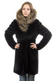 Image of the young woman in winter coat Royalty Free Stock Photo