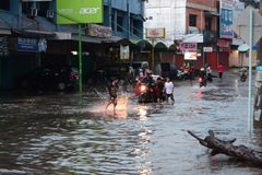 Flood in palembang Stock Photography