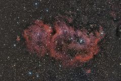 SH2-199 Soul Nebula. Imaged with a telescope and a scientific CCD camera royalty free illustration