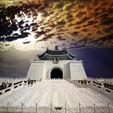 Imageing of Chiang Kai-shek Memorial Hall Feb 14, 2012 in Taipei Royalty Free Stock Images