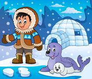 Imagem ártica 5 do tema Foto de Stock