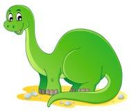Imagem 1 do tema do dinossauro ilustração stock