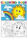 Imagem 1 do verão do livro para colorir Imagem de Stock