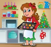 Imagem 2 do tema dos doces do Natal Imagens de Stock Royalty Free