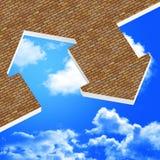 Imagem 3d do ícone da casa ilustração stock