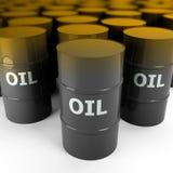 imagem 3d do tambor de petróleo da gasolina Imagens de Stock