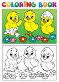 Imagem 6 do pássaro do livro para colorir Fotografia de Stock Royalty Free