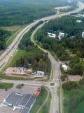 Imagem aérea da estrada foto de stock