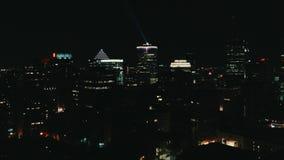 Imagem aérea de Montreal Canadá na noite fotografia de stock royalty free