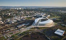 Imagem aérea de Moses Mabhida Stadium Durban Foto de Stock Royalty Free