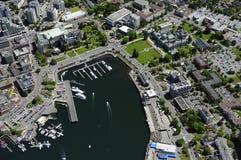 Imagem aérea de Victoria, BC, Canadá imagem de stock royalty free