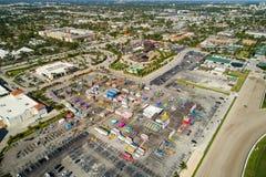 Imagem aérea do Broward County justo em Gulfstream Park imagens de stock