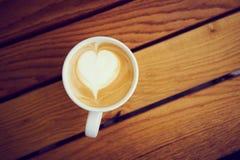 Imagem aérea do café do cappuccino Foto de Stock Royalty Free