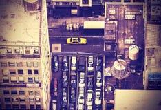 Imagem aérea do vintage de New York City, EUA Fotos de Stock