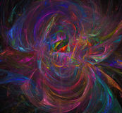Imagem abstrata colorida do fractal wallpaper Arte finala digital criativa Fotografia de Stock Royalty Free
