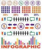 Imagem abstrata com elementos de infographic Imagens de Stock