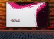 Imagem abstrata da pintura na parede da textura do fundo do teste padrão do tijolo com o assoalho de madeira no estúdio Imagens de Stock
