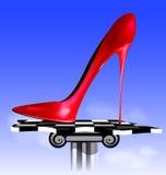 Imagem abstrata da sapata vermelha Fotos de Stock Royalty Free