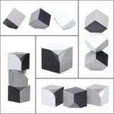 Imagem abstrata de cubos monocromáticos Foto de Stock Royalty Free