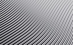 Imagem abstrata de prata das linhas fundo 3d rendem Imagens de Stock Royalty Free