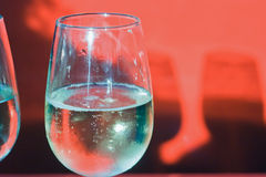 Imagem abstrata de um vidro do vinho Foto de Stock Royalty Free