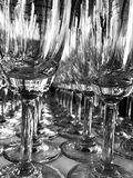Imagem abstrata de um vidro do vinho Imagem de Stock Royalty Free