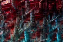 Imagem abstrata de uma atração do recinto de diversão fotos de stock royalty free