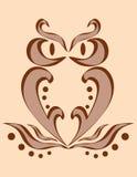 Imagem abstrata de uma coruja Imagem de Stock