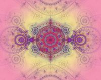 A imagem abstrata do fractal da cor. Imagens de Stock Royalty Free