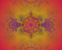 A imagem abstrata do fractal da cor. Foto de Stock