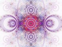 A imagem abstrata do fractal da cor. Fotografia de Stock