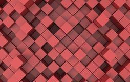Imagem abstrata do fundo dos cubos ilustração 3D Imagem de Stock