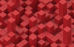 Imagem abstrata do fundo dos cubos ilustração 3D Fotografia de Stock Royalty Free