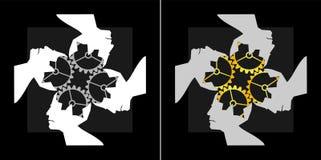 Imagem abstrata do logotipo coletivo da inteligência dos trabalhos de equipa Fotografia de Stock
