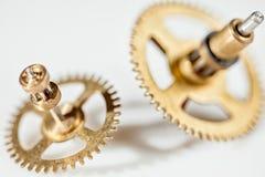 Imagem abstrata do mecanismo do maquinismo de relojoaria - rodas denteadas - engrenagens Fotos de Stock
